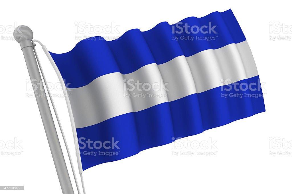 El Salvador Flag On Pole royalty-free stock photo