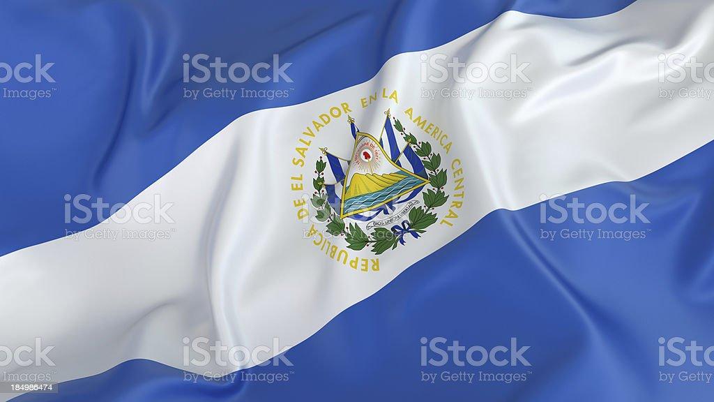 Bandera de El Salvador - foto de stock