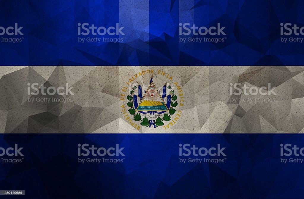 El Salvador grunge flag. Vintage and retro style. stock photo