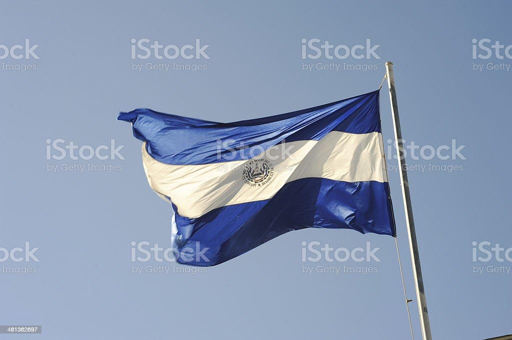 El Salvador national flag stock photo