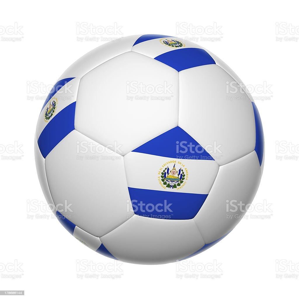 El Salvador soccer ball royalty-free stock photo