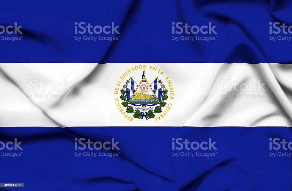 El Salvador waving flag stock photo