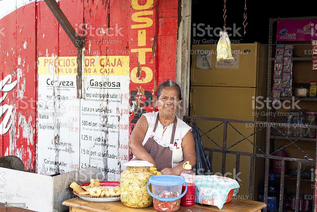 El Salvadorian woman royalty-free stock photo