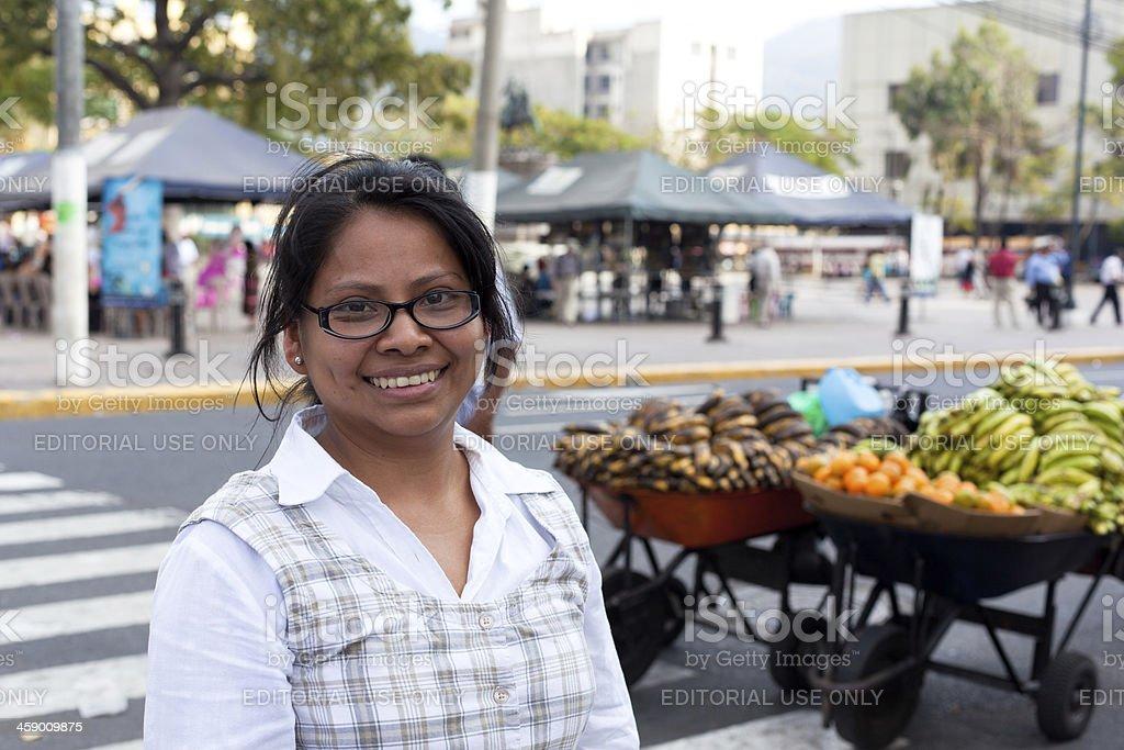 El Salvadorian young woman portrait stock photo