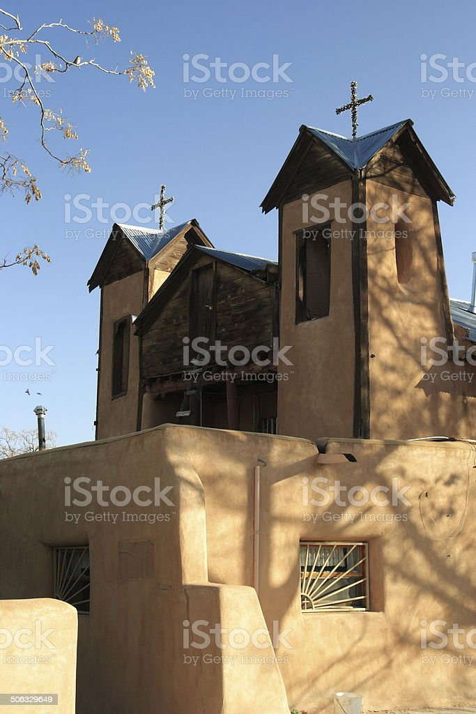 El Santuario de Chimayo Catholic Church, New Mexico stock photo