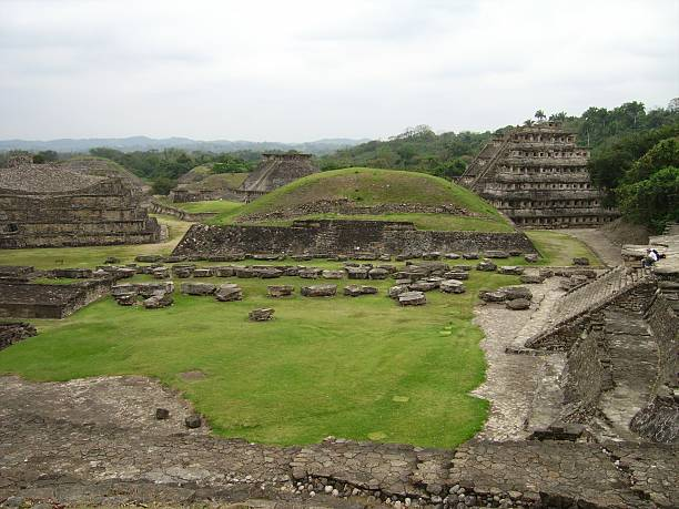 El Tajin - Panoramic view, Mexico Panoramic view of El Tajin Pre-Columbian archeological site, Poza Rica Mexico.  el tajin stock pictures, royalty-free photos & images