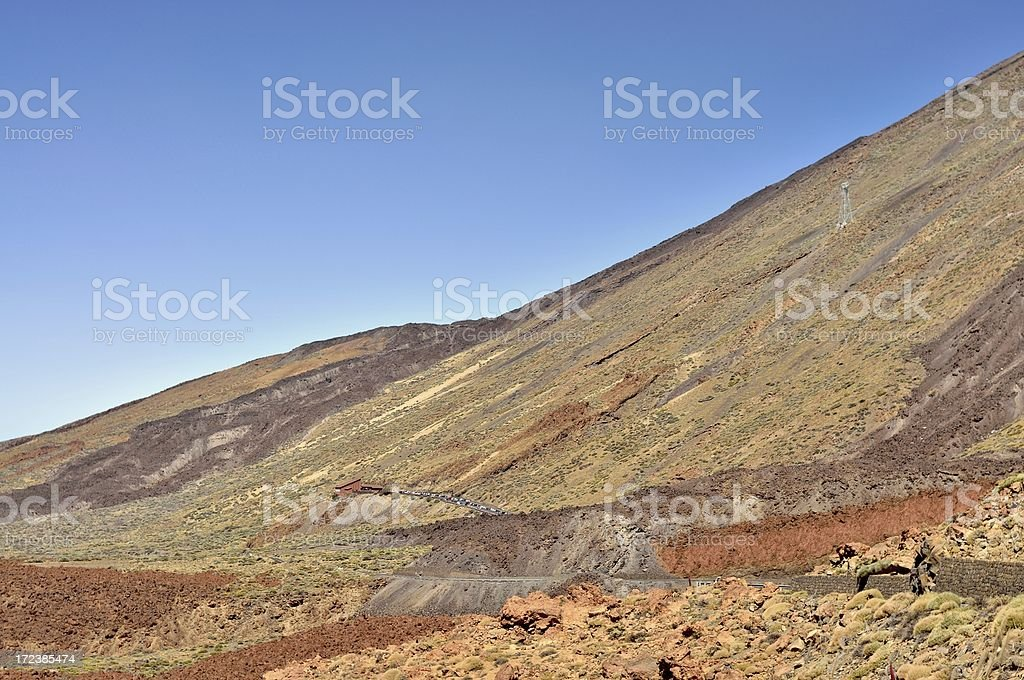 El Teide Tram Station stock photo