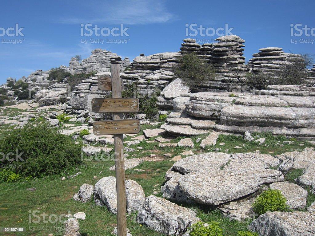 El Torcal Nature Reserve, Malaga in Spain stock photo