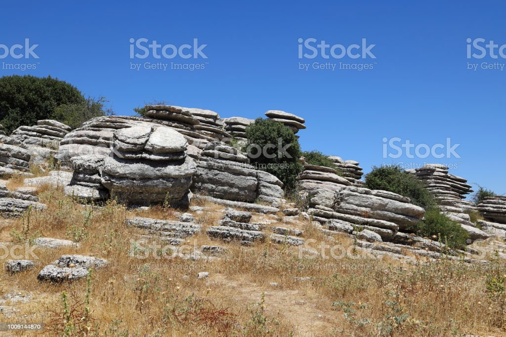 El Tornillo rock formation  - UNESCO World Heritage Mountains, Spain stock photo
