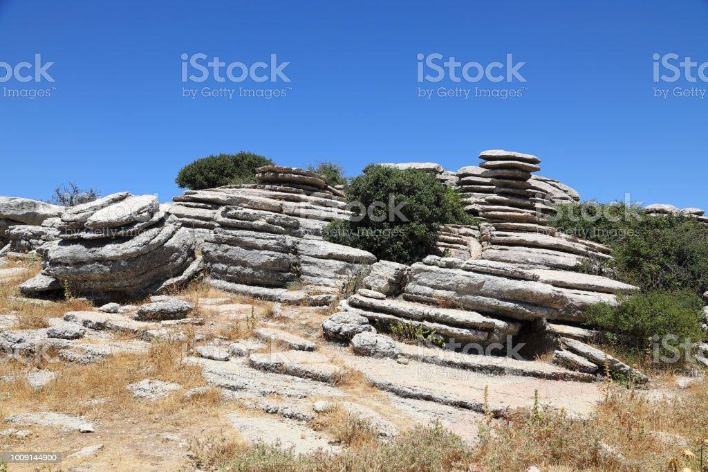 El Tornillo rock formation  - UNESCO World Heritage Mountains, Spain stock photo