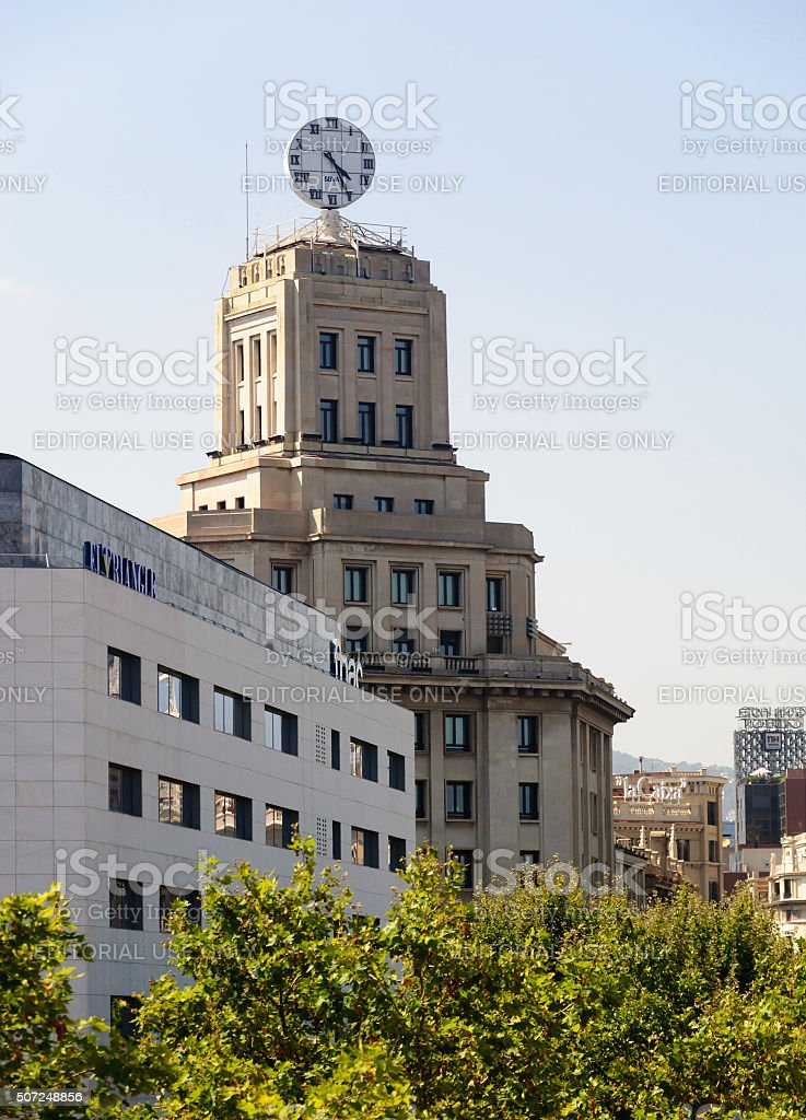 El Triangle and BBVA stock photo