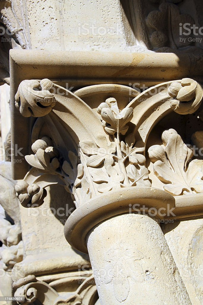 Elaborate Columns. royalty-free stock photo