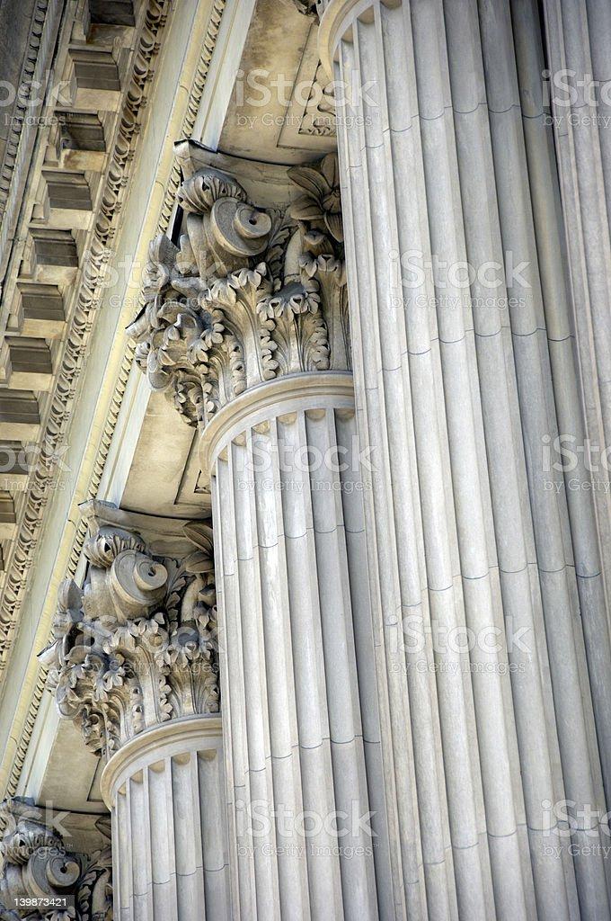 Elaborate stone columns. royalty-free stock photo