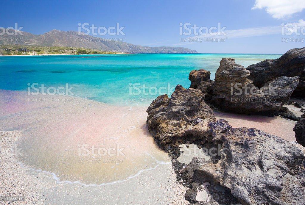 Elafonisi Beach in Crete, Greece stock photo