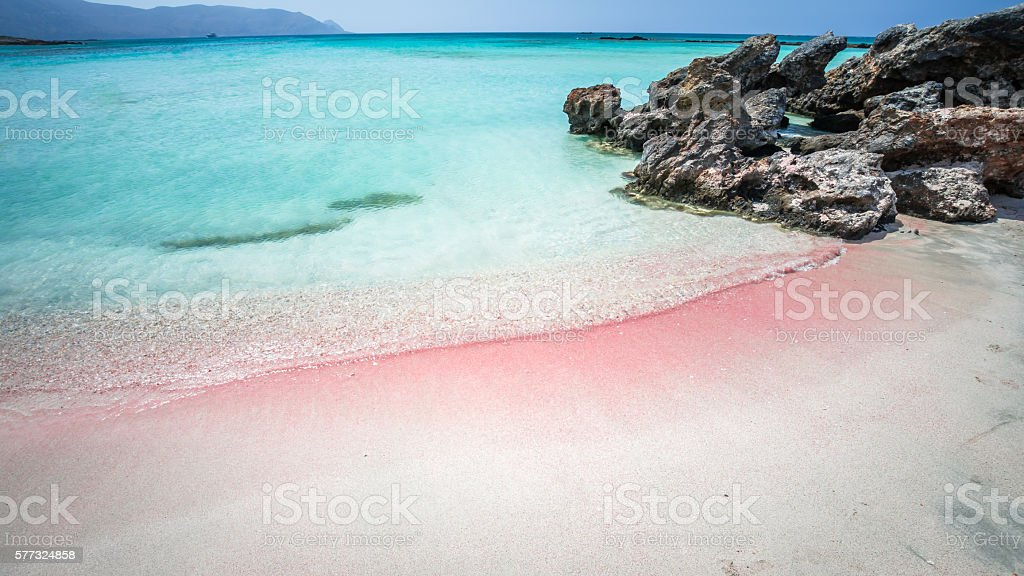 Elafonisi Lagoon, Crete Island, Greece stock photo