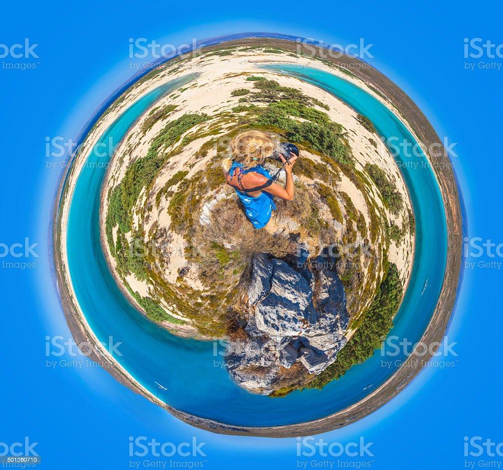 Elafonisos Island planet stock photo