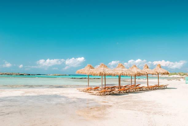 Elafonissi beach on the Crete island, Greece. stock photo