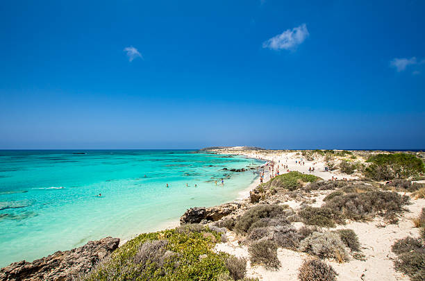 Elafonissi Lagoon, Crete Island, Greece – Foto