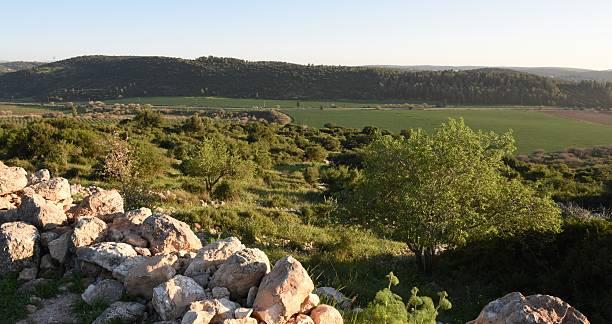 Elah Valley in Israel stock photo