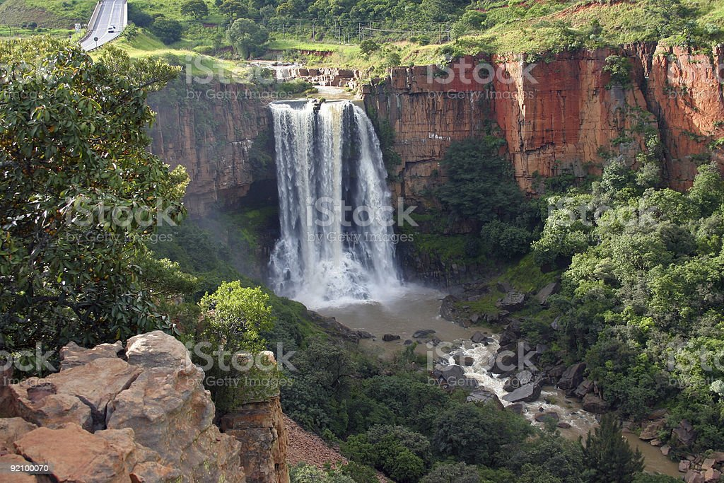 Elands River Waterfall in Mpumalanga, South Africa royalty-free stock photo