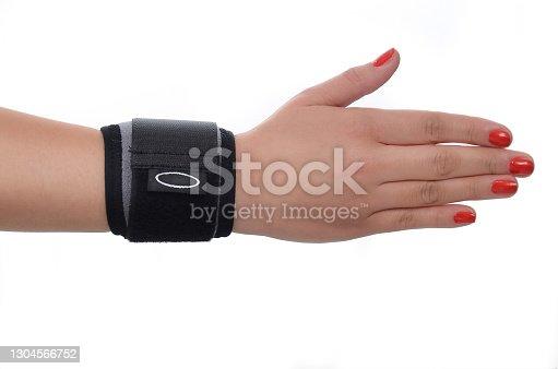 Elastic Wrist Bandage. Orthopedic medical Fitness Hand Bandage. Elastic Wrist Injury Support. Sport Protective Wristband. Wrist Positioning Orthosis. Wrist pain