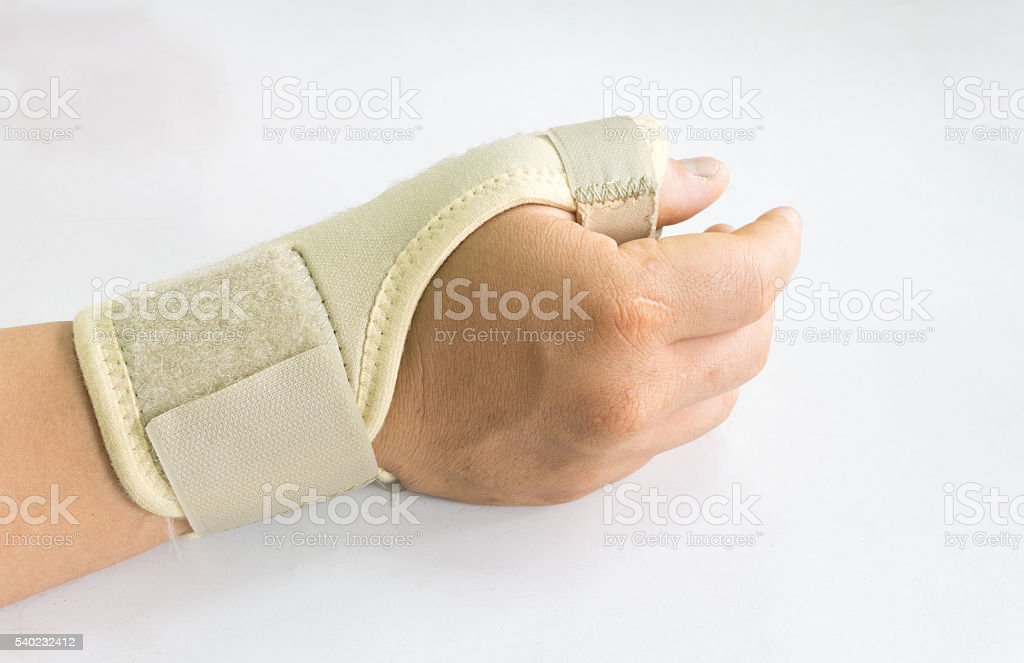 Elastic wrist support stock photo