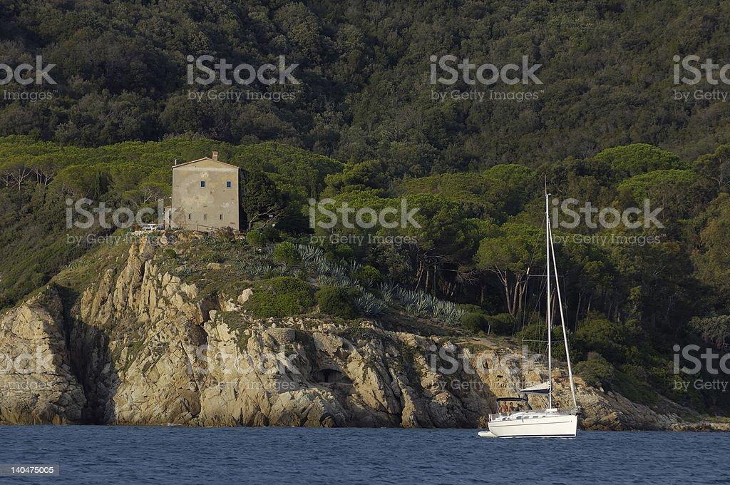 Elba Island anchorage royalty-free stock photo