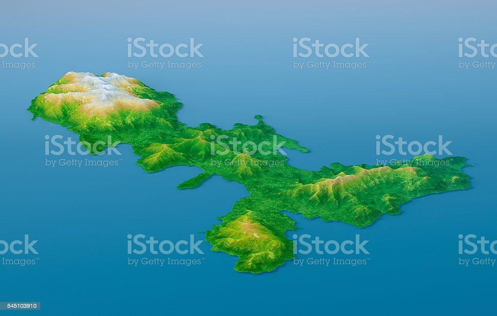 Elba Karte.Elba Topographische Karte 3d Landschaft Mit Relief Farbe Stockfoto