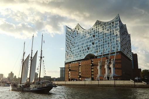 Elbe philharmonic hall in the harbor of Hamburg