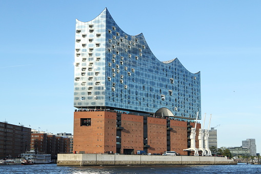 Elbe philharmonic hall in the harbor of Hamburg