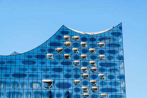 Elbphilharmonie in hafencity district, Hamburg, Germany