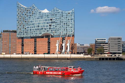Elbphilharmonie in the modern Hafencity of Hamburg, Germany