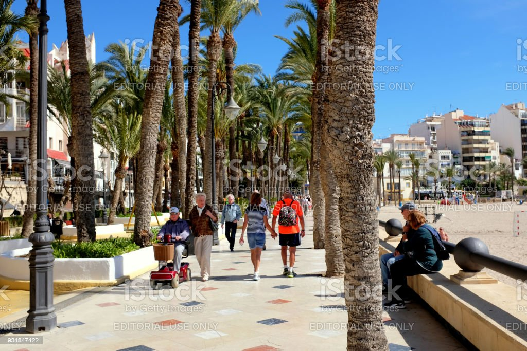 Parque de Elche, Benidorm, Spain. stock photo