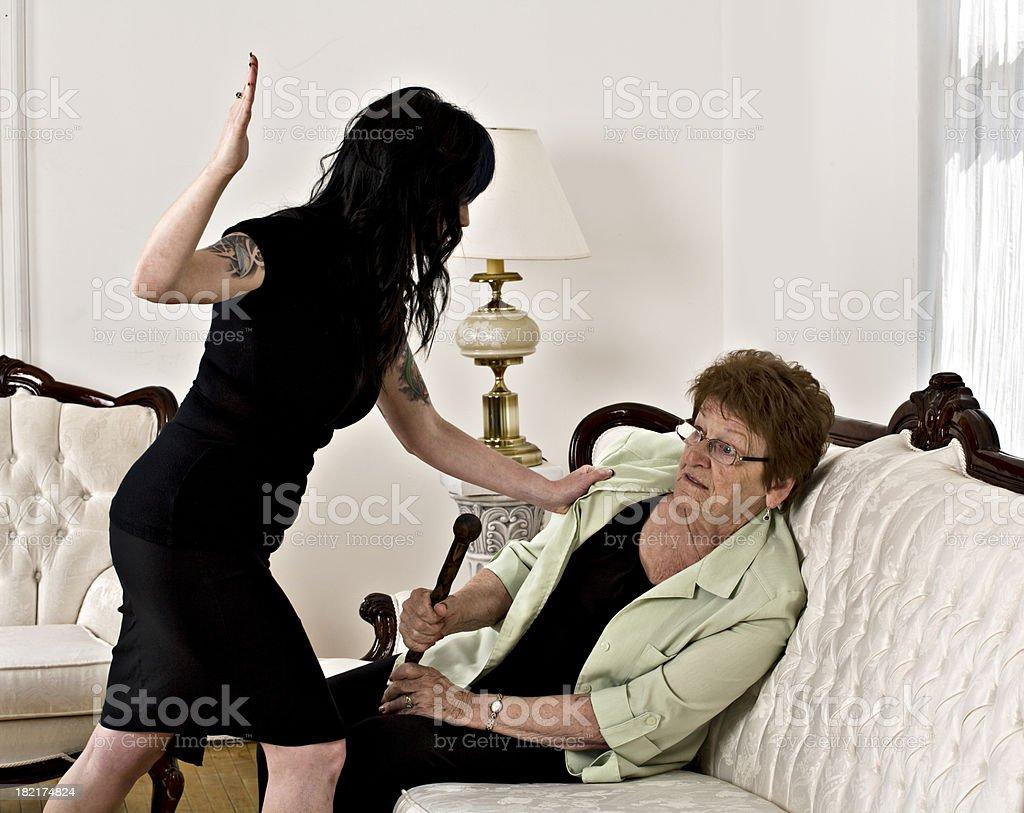 Elder abuse stock photo