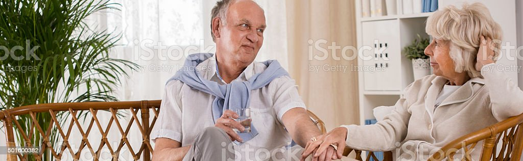 Elder married couple stock photo