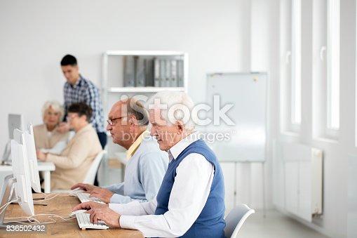 istock Elder men using computers 836502432