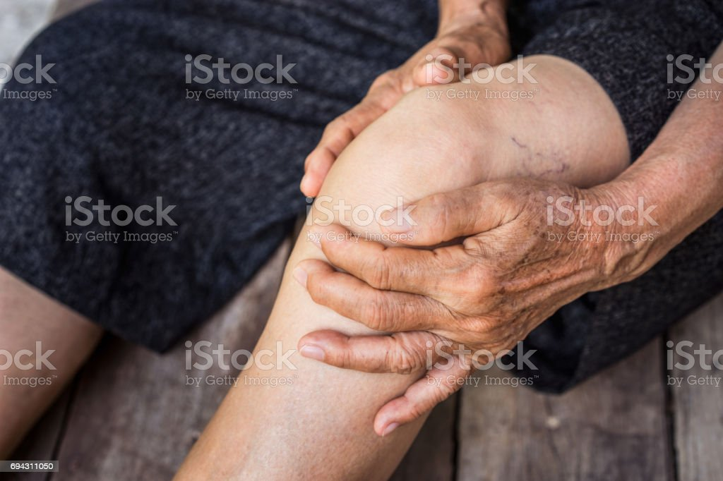 elder osteoarthritis stock photo