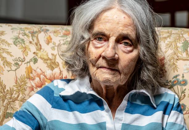 Ältere Frau Porträt – Foto