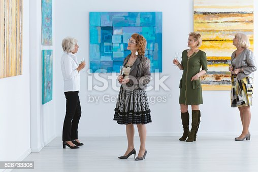 istock Elder women during opening 826733308