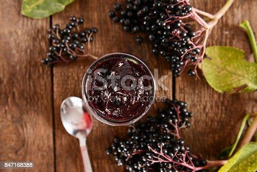 istock Elderberry jam 847168388