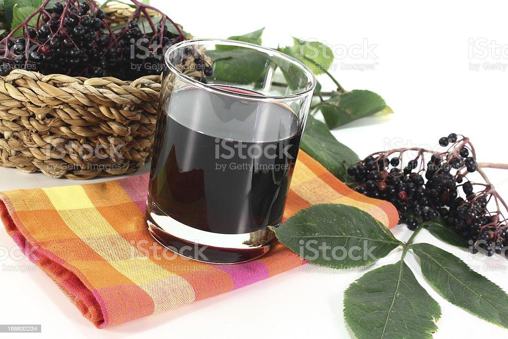 Elderberry juice royalty-free stock photo