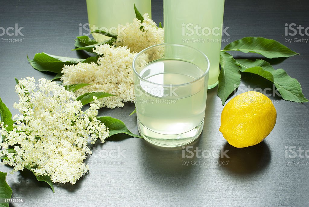Elderflower juice royalty-free stock photo