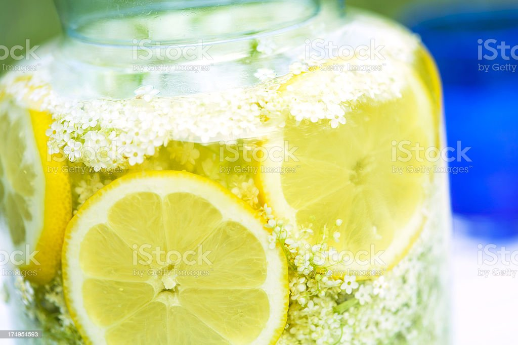 elderflower syrup drink royalty-free stock photo