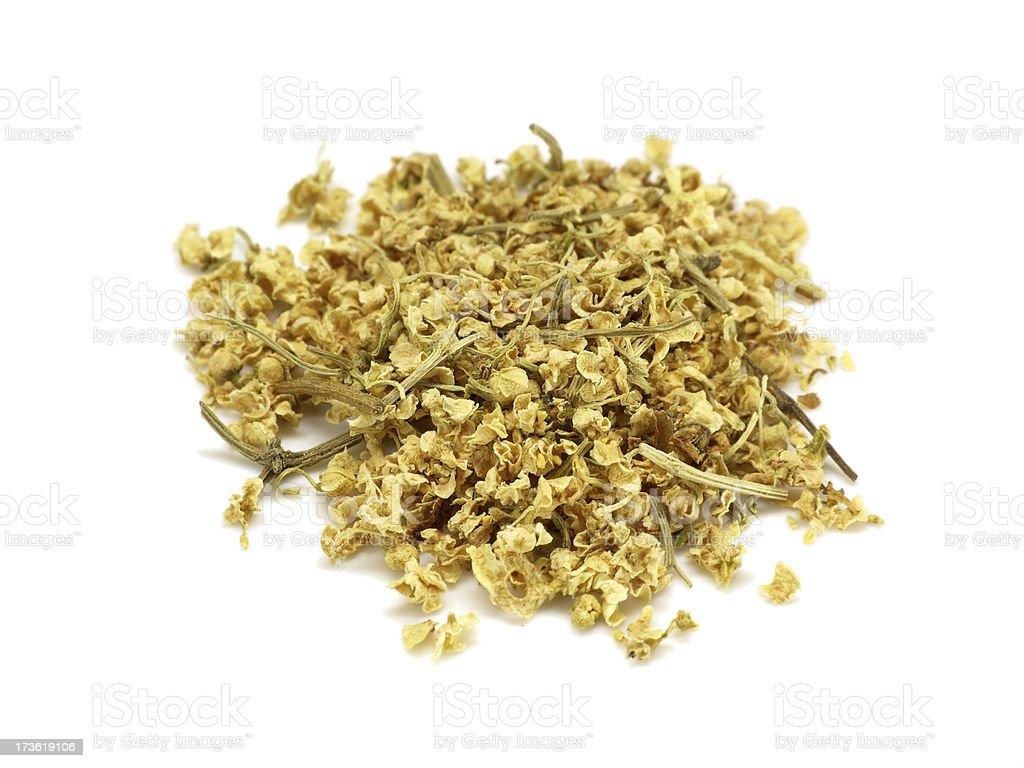 elderflower tea isolated on white royalty-free stock photo