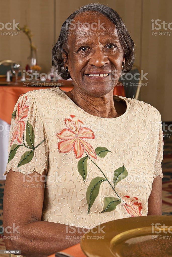 Elderly African American woman stock photo