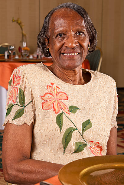 Elderly African American woman stock photo