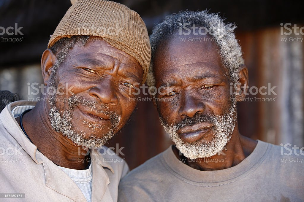 Elderly African friends royalty-free stock photo
