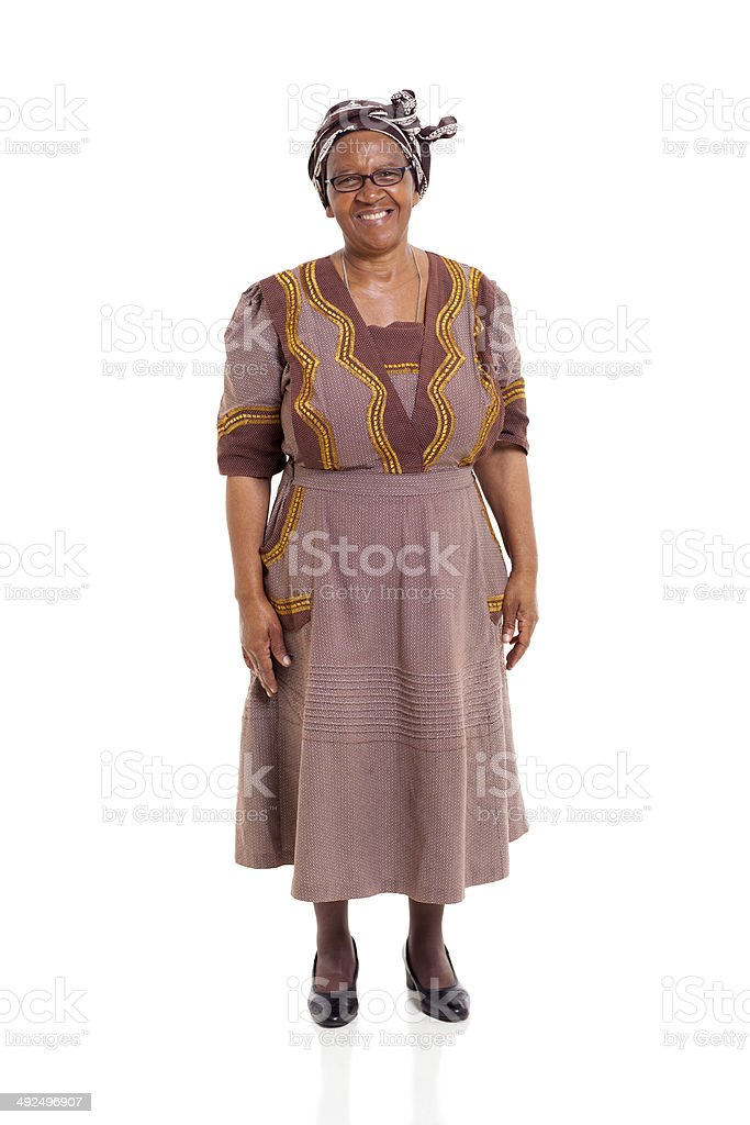 fb88f0be362 Elderly African Lady In Traditional Attire Stock Photo   More ...