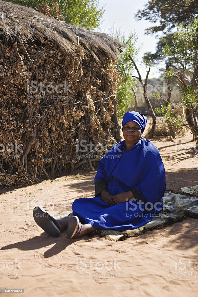 Elderly african woman royalty-free stock photo