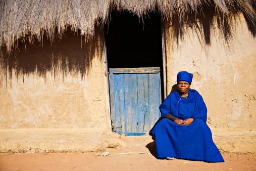 Elderly african woman